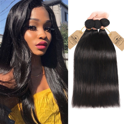 Brazilian Human Virgin Hair Straight 3 Bundles 100% Virgin Hair