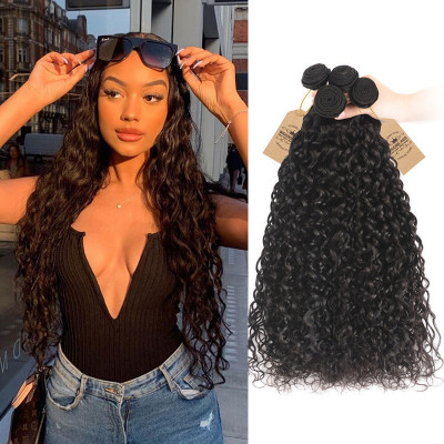 Human Virgin Peruvian Natural Wave Hair Weft 4pcs/pack Hair Bundles