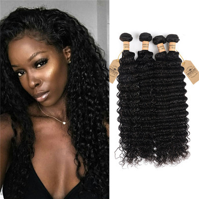 High Quality Grade 8A Deep Wave Peruvian Virgin Hair 4 Bundles Hair