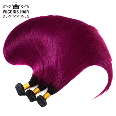 High Quality 1B/Purple Color Human Hair Bundles Straight Hair Weave