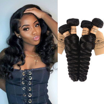 Peruvian Loose Wave Virgin Hair Weft 4pcs/pack Wholesale Hair