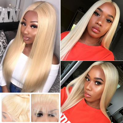 150% 180% 200% Density Pure 613 Blonde Straight Lace Front Wigs