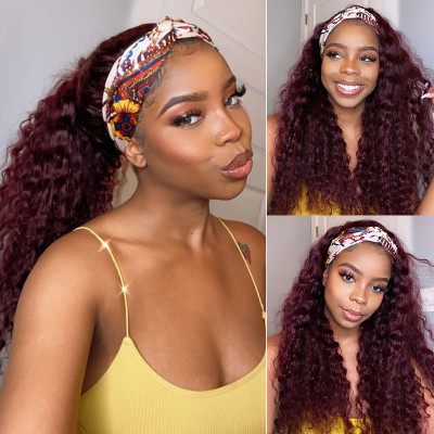 Colored Headband Wigs Half Wigs With Various Headbands Colored Wigs
