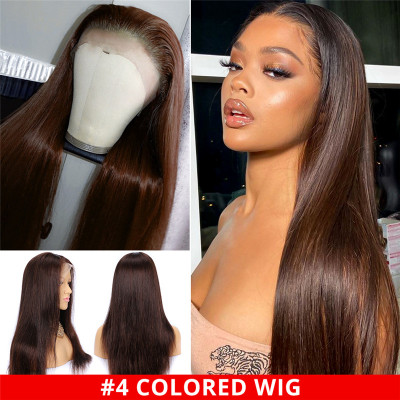 #4 Lace Frontal Wigs #1B/4 Straight And Body Wave Ombre Lace Front Wigs