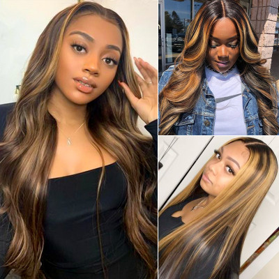 Highlight Wigs Lace Part Wigs Colored Wigs Affordable Middle Part Lace Wigs