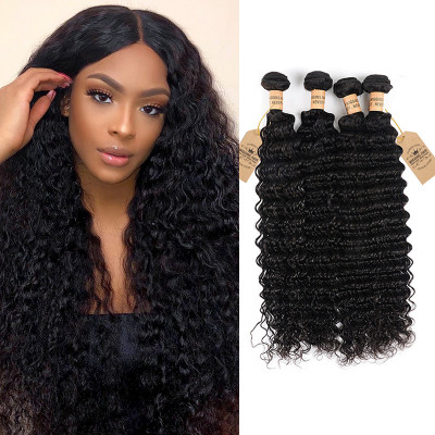 Deep Wave Weave Malaysian Cheap Human Hair 4 Bundles Hair