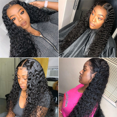 Deep Wave 4x4 5x5 Fake Scalp Wigs 10-30 Inch 4x4 5x5 Lace Closure Wigs Glueless Lace Wigs