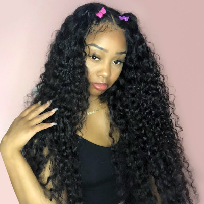 Deep Wave Long Wigs 18-40 Inches 6x6 Lace Closure Wigs Deep Parting Lace Wig