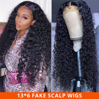 Deep Wave 13*6 Fake Scalp Wigs 10-30 Inch Affordable Wigs 13*6 Lace Front Wigs
