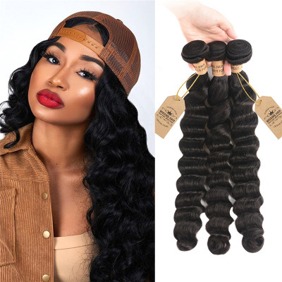Malaysian Hair Bundles Loose Deep Wave 3pcs Human Virgin Hair
