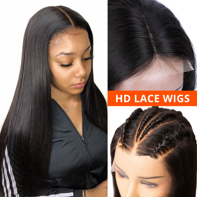 New HD Lace Wigs Human Hair Wigs Transparent Lace Front Wigs