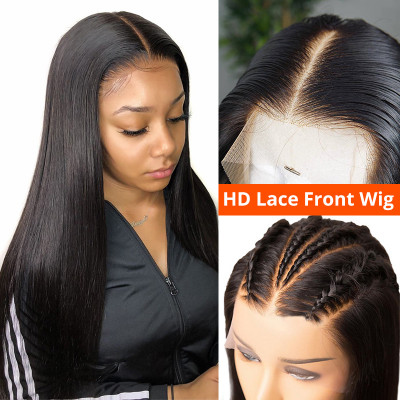 New HD 13*4 Lace Front Wigs 20-30Inches Human Hair Wigs Brazilian Wig With Baby Hair