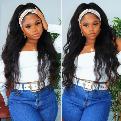 Headband Wigs Human Hair Half Wigs No Plucking Wigs For Women