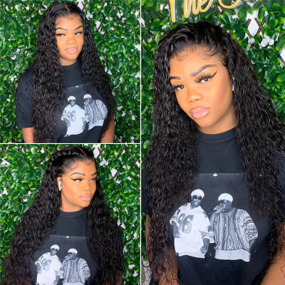 24-40 Inch Long Hair Wigs Curly Wave Human Hair Lace Front Wigs On Sale