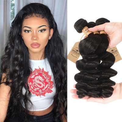 Malaysian Loose Wave Hair 100% Human Virgin Hair 3 Bundles