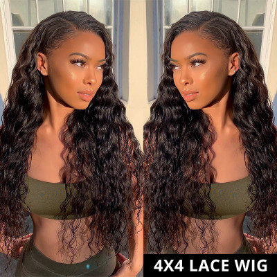 Loose Deep Wave 4X4 Lace Wigs 180% Density Wholesale Human Hair