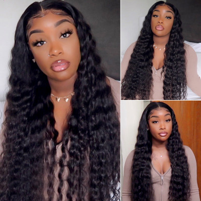 Loose Deep Wave 24-40 Inch Long Hair Wigs Lace Front Wigs For Sale