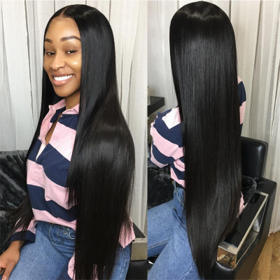 Long Wigs Human Hair Lace Front Wigs Straight 13*4 Lace Frontal Wig 24-40 Inch