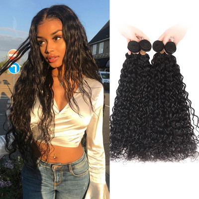 Natural Wave Water Weave Brazilian Human Virgin Hair 4pcs On Sale