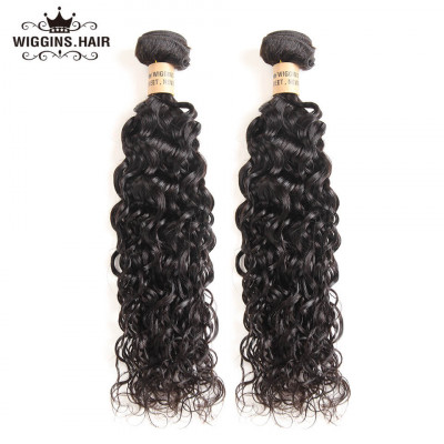 Brazilian Natural Wave 2 Bundles Human Virgin Hair Wavy Water Wave