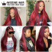 1B/99J Color Straight Hair
