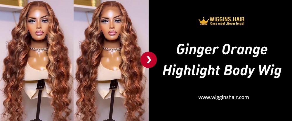 Ginger Orange Highlight Body Wig