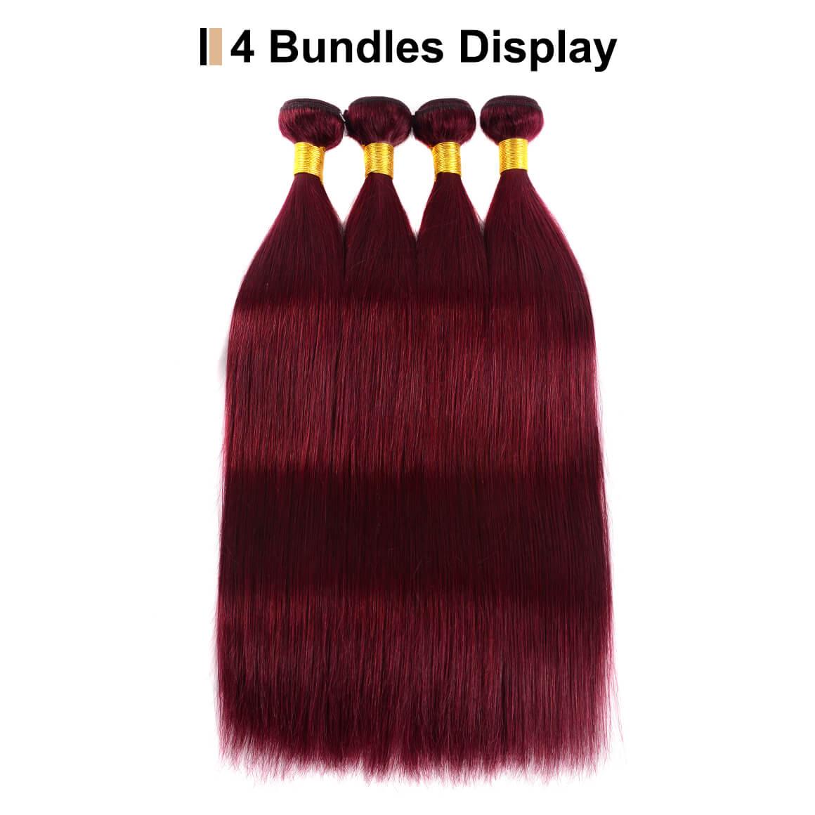 99J Color Straight Hair
