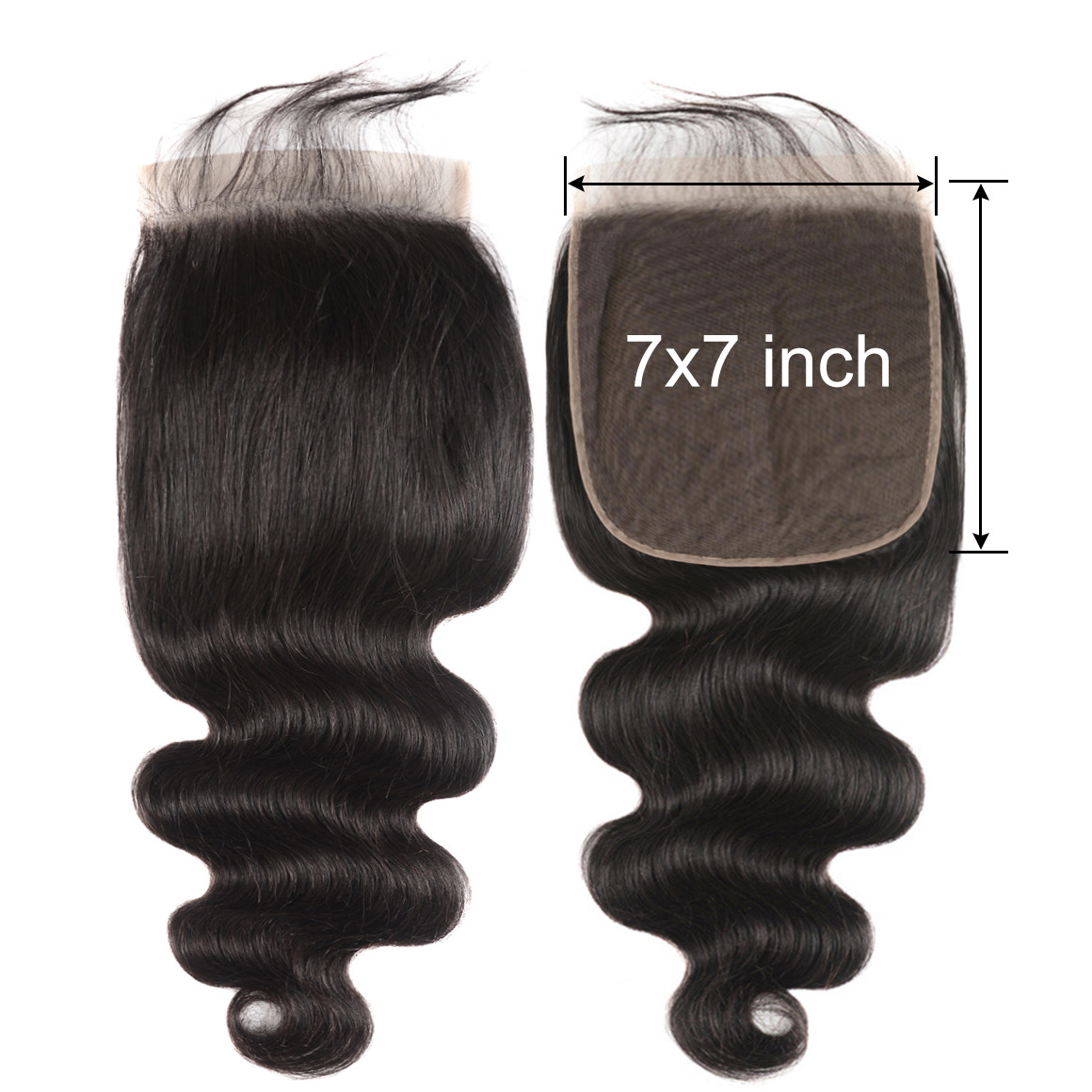 7*7 Lace Closure Body Wave