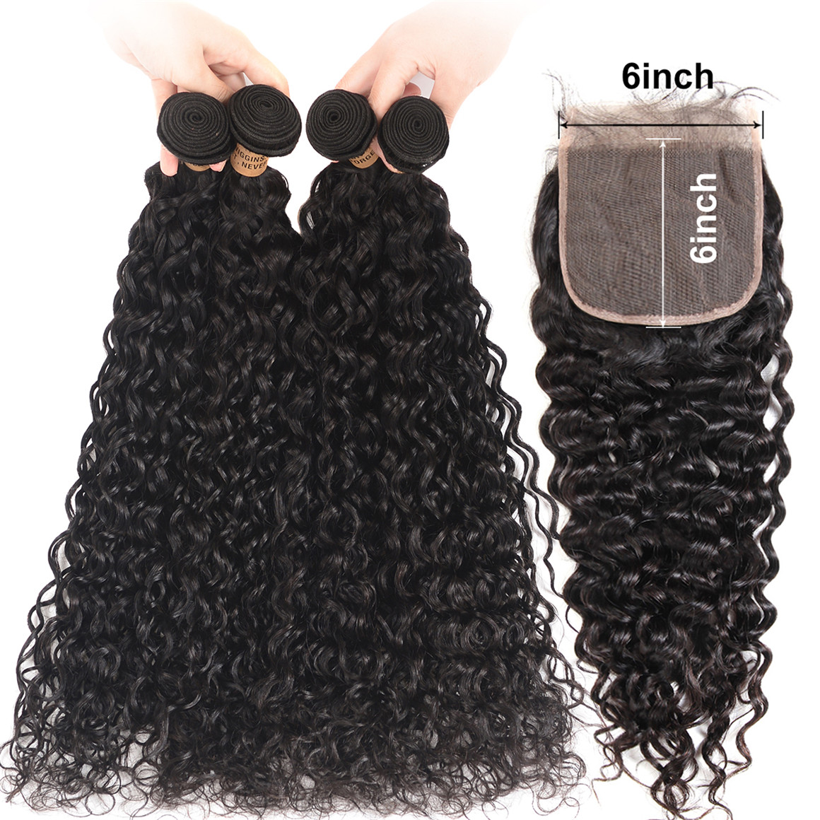 Natural Wave Virgin Hair 4 Bundles